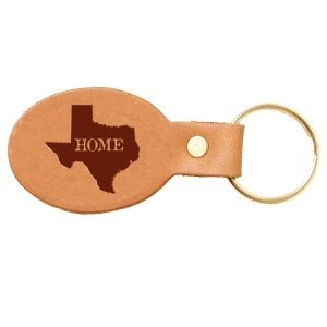Oval Key Chain: TX Home