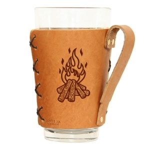 Pint Holder with Handle: Camp Fire