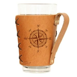 Pint Holder with Handle: Compass Rose