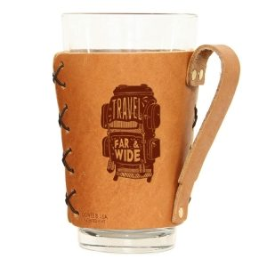 Pint Holder with Handle: Travel Far & Wide