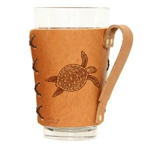 Pint Holder with Handle: Sea Turtle