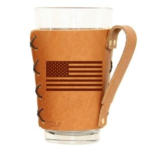 Pint Holder with Handle: American Flag