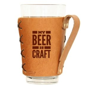 Pint Holder with Handle: My Beer is Craft