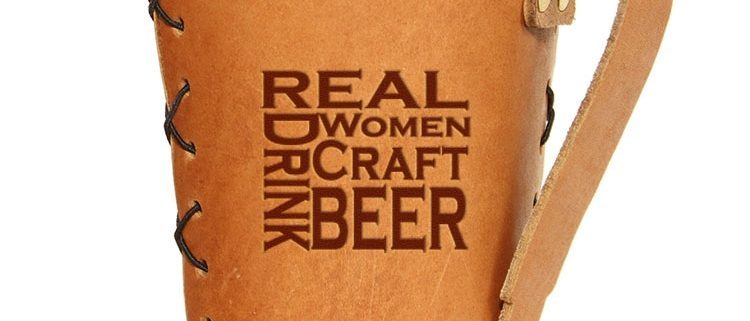 Pint Holder with Handle: Real Women...Beer