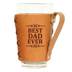 Pint Holder with Handle: Best Dad Ever
