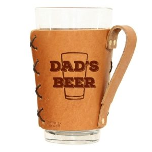 Pint Holder with Handle: Dad's Beer