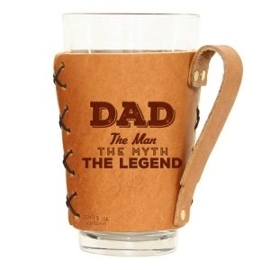 Pint Holder with Handle: Dad - Man, Myth, Legend