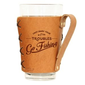 Pint Holder with Handle: Go Fishing