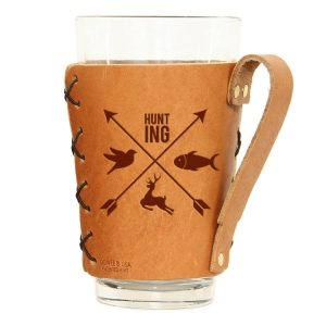 Pint Holder with Handle: Hunting Cross