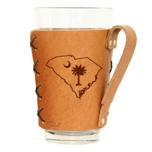 Pint Holder with Handle: SC Palmetto