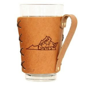 Pint Holder with Handle: VA is for Lovers