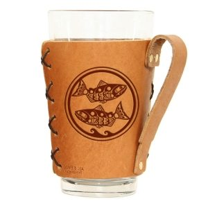 Pint Holder with Handle: Zen Fish / Pisces
