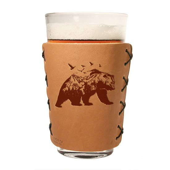 Pint Holder: Mountain Bear