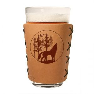 Pint Holder: Howling Wolf