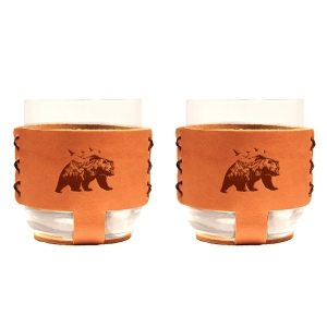 9oz Rocks Sleeve Set of 2 with Glasses: Mountain Bear