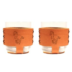 9oz Rocks Sleeve Set of 2 with Glasses: Horse