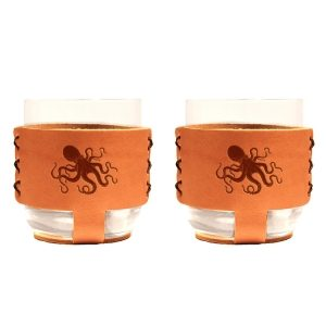 9oz Rocks Sleeve Set of 2 with Glasses: Octopus