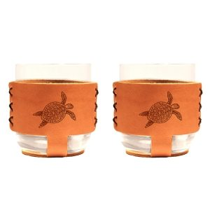 9oz Rocks Sleeve Set of 2 with Glasses: Sea Turtle