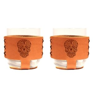 9oz Rocks Sleeve Set of 2 with Glasses: Candy Skull