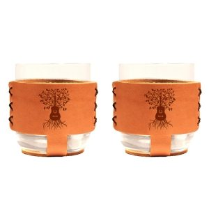 9oz Rocks Sleeve Set of 2 with Glasses: Guitar Tree