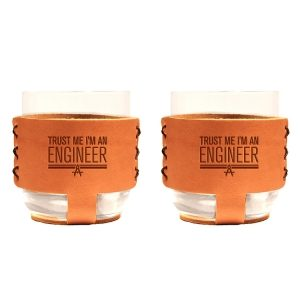 9oz Rocks Sleeve Set of 2 with Glasses: Trust Me ... Engineer