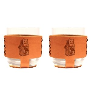 9oz Rocks Sleeve Set of 2 with Glasses: Twin Lens Camera