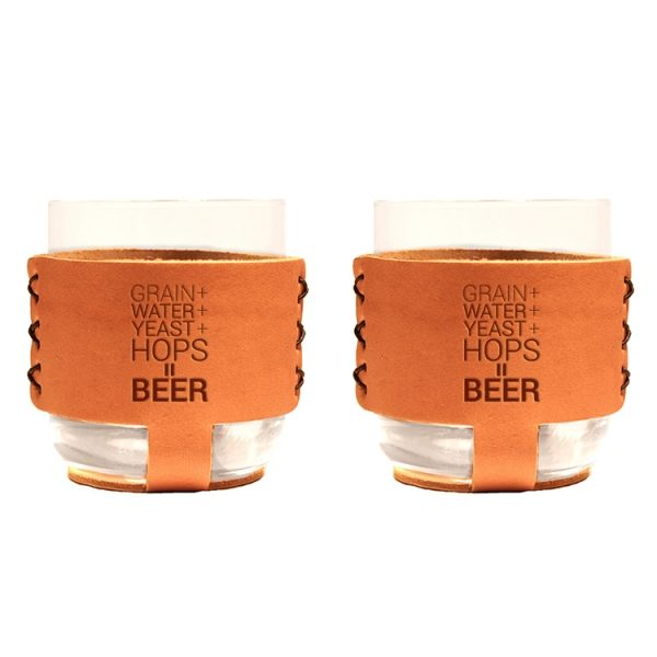 9oz Rocks Sleeve Set of 2 with Glasses: Beer Ingredients