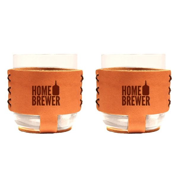 9oz Rocks Sleeve Set of 2 with Glasses: Home Brewer