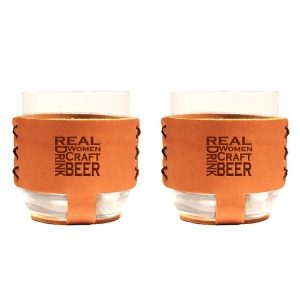 9oz Rocks Sleeve Set of 2 with Glasses: Real Women...Beer