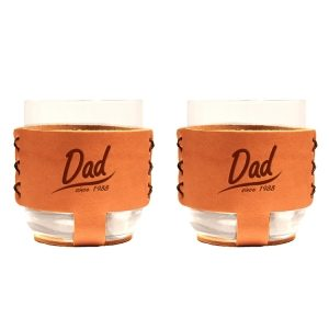 9oz Rocks Sleeve Set of 2 with Glasses: Dad Since