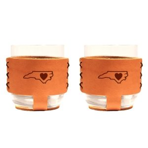 9oz Rocks Sleeve Set of 2 with Glasses: NC Heart