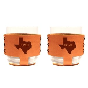 9oz Rocks Sleeve Set of 2 with Glasses: TX Home