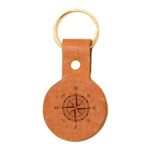 Round Key Chain: Compass Rose