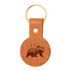 Round Key Chain: Mountain Bear