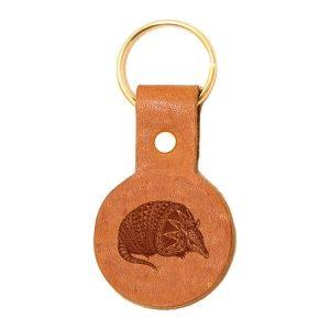 Round Key Chain: Armadillo