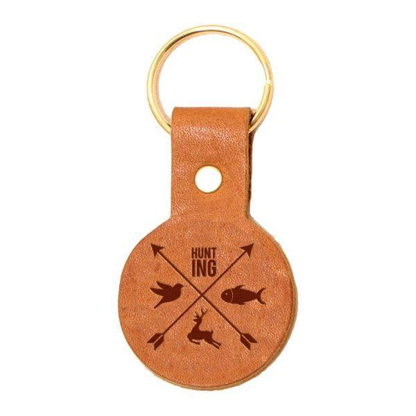 Round Key Chain: Hunting Cross