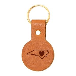 Round Key Chain: NC Heart