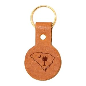 Round Key Chain: SC Palmetto
