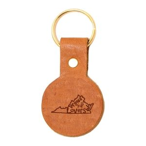 Round Key Chain: VA is for Lovers