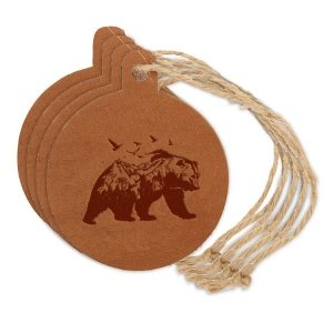 Round Ornament (Set of 4): Mountain Bear