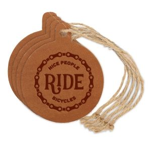 Round Ornament (Set of 4): Nice People Ride Bikes