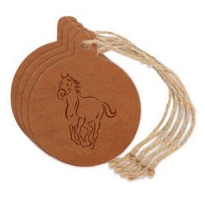 Round Ornament (Set of 4): Horse