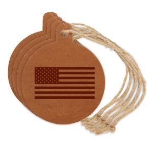 Round Ornament (Set of 4): American Flag