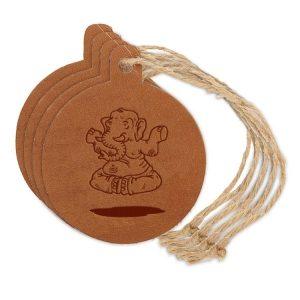 Round Ornament (Set of 4): Elephant Buddah