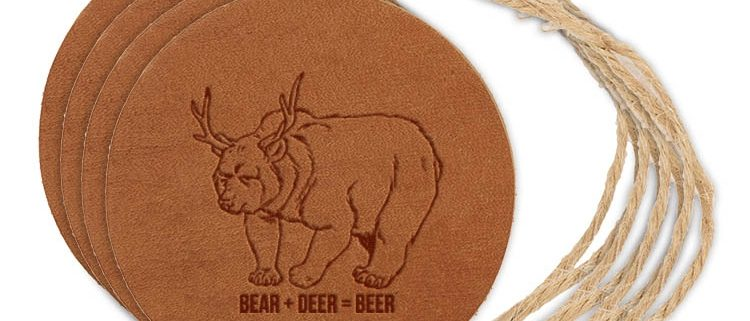 Round Ornament (Set of 4): Beer Bear