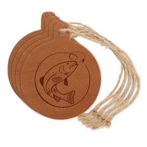 Round Ornament (Set of 4): Fish Hook