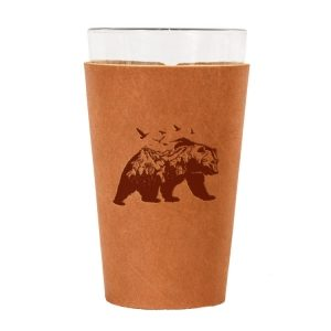 Single Stitch Pint Holder: Mountain Bear