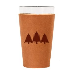 Single Stitch Pint Holder: Pine Trees