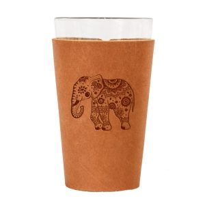 Single Stitch Pint Holder: Elephant Mandala