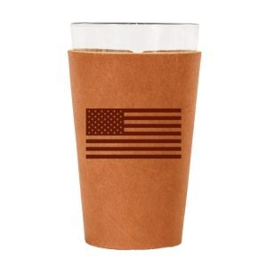 Single Stitch Pint Holder: American Flag